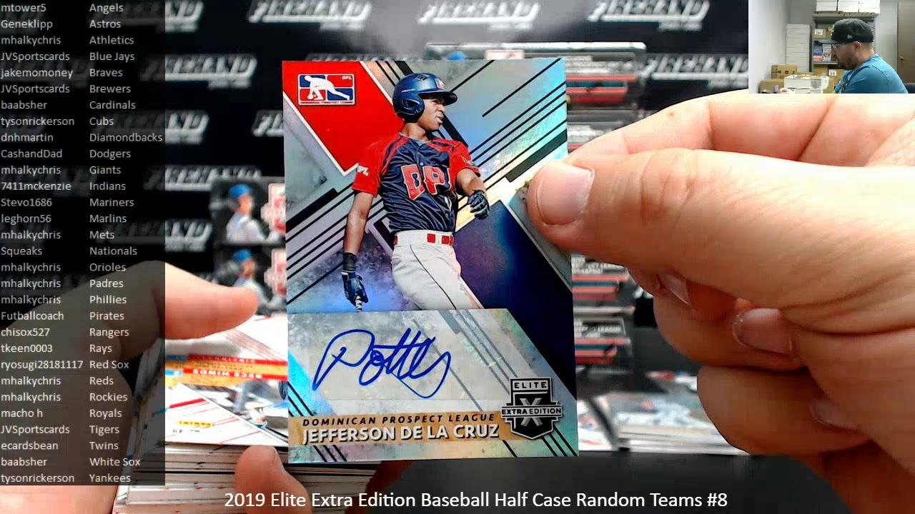 12162019 2019 Elite Extra Edition Baseball Half Case Random Teams 8 - 12/16/2019 2019 Elite Extra Edition Baseball Half Case Random Teams #8