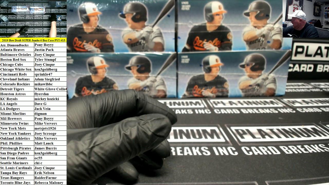 2019 Bowman Draft Baseball Super Jumbo 6 Box Case PYT 13 HUGE RED AUTO - 2019 Bowman Draft Baseball Super Jumbo 6 Box Case PYT #13 ~ HUGE RED AUTO!!!