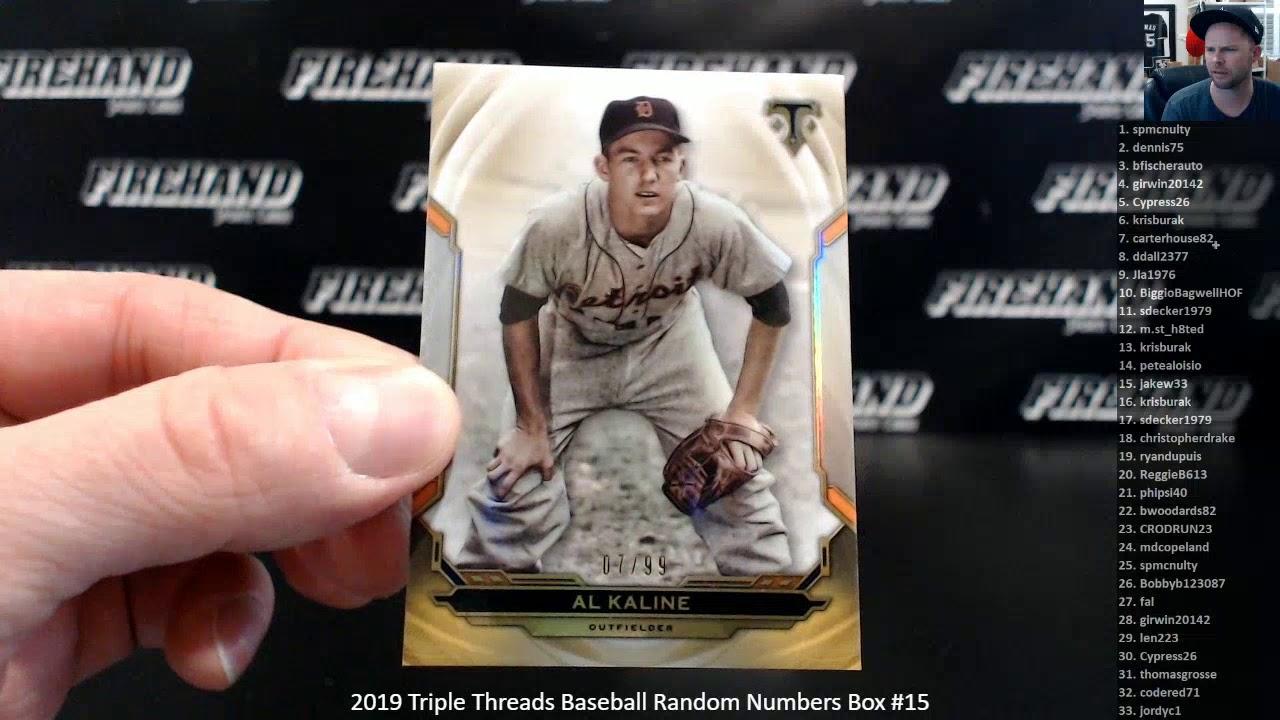 2019 Triple Threads Baseball Random Numbers Box 15 121419 - 2019 Triple Threads Baseball Random Numbers Box #15 ~ 12/14/19