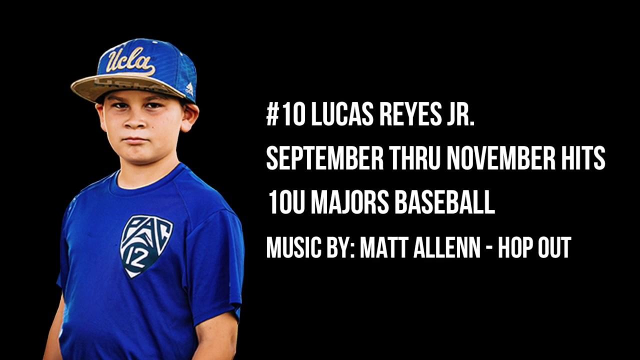 Lucas Reyes Jr. 10U Baseball Highlights from September November 2019 - Lucas Reyes Jr. 10U Baseball Highlights from September - November 2019
