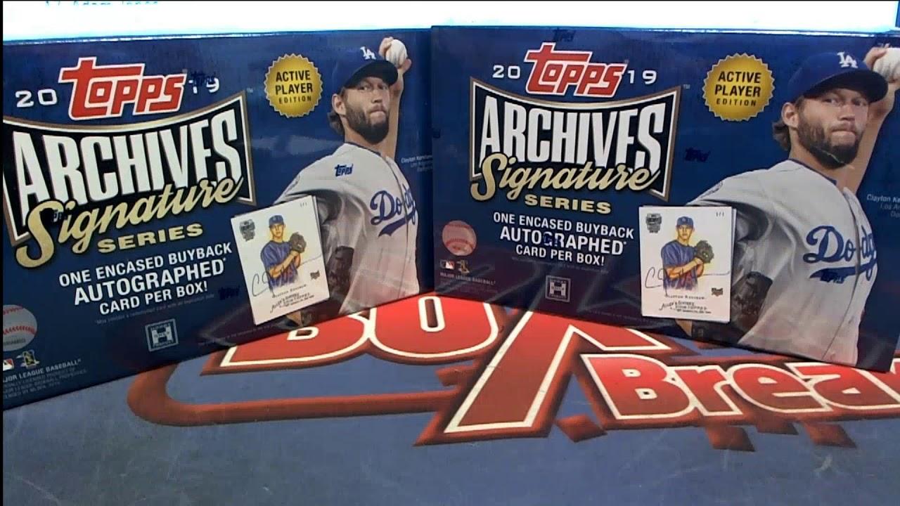 2 BOX BREAK OF 2019 Topps Archives Signature Series Baseball Box ID 19ASIGSAP205 - 2 BOX BREAK OF 2019 Topps Archives Signature Series Baseball Box ID 19ASIGSAP205