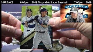 2019 Topps Gold Label Baseball Card 16 Box Case Break 5 Sports Cards - 2019 Topps Gold Label Baseball Card 16 Box Case Break #5   Sports Cards