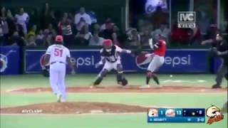 Batter Alex Romero Attacks Catcher with Bat During Venezuela Baseball League Game Benches Clear - Batter Alex Romero Attacks Catcher with Bat During Venezuela Baseball League Game   Benches Clear