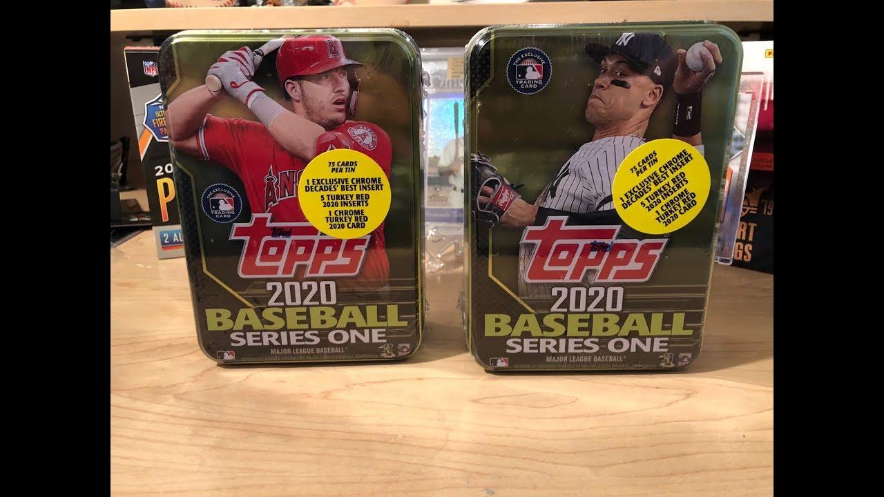 2020 Topps Series 1 Baseball Tins Nice Rookies and Chromes  - 2020 Topps Series 1 Baseball Tins! ** Nice Rookies and Chromes! **