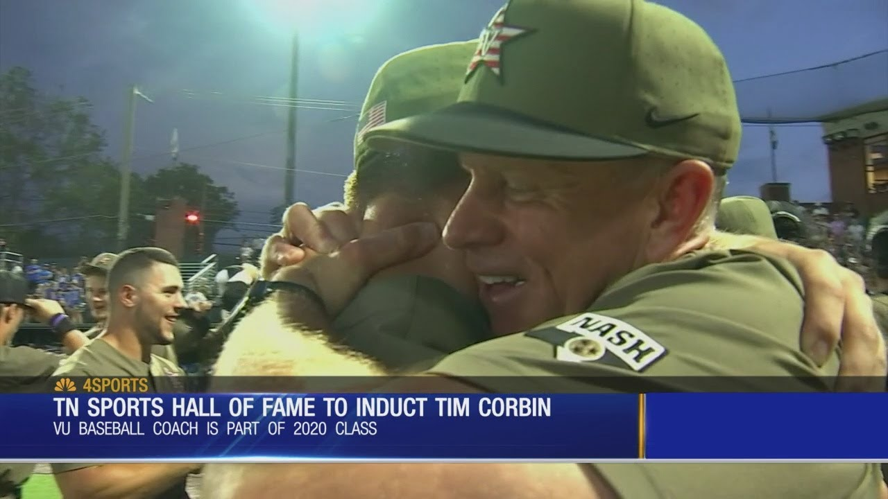 Vandy Baseball coach Tim Corbin Inducted Into Tennessee Sports Hall Of Fame - Vandy Baseball coach Tim Corbin Inducted Into Tennessee Sports Hall Of Fame