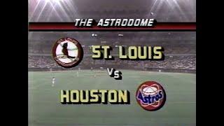 Vintage NL Baseball St. Louis Cardinals Houston Astros May 22 1987 Tim Conroy vs Nolan Ryan - Vintage NL Baseball - St. Louis Cardinals @ Houston Astros - May 22, 1987 - Tim Conroy vs Nolan Ryan