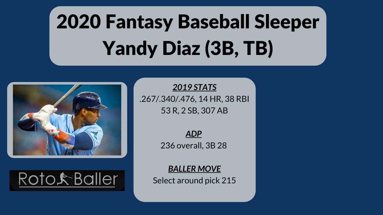 Yandy Diaz 2020 Fantasy Baseball Sleeper - Yandy Diaz: 2020 Fantasy Baseball Sleeper