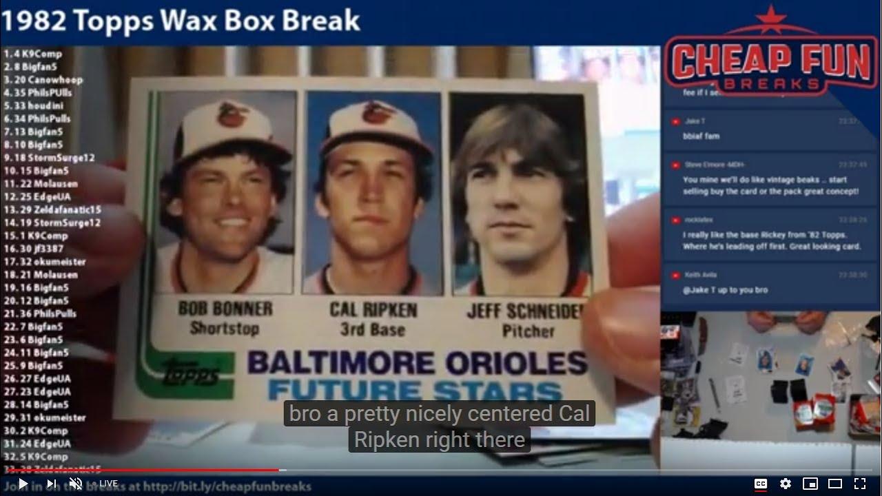 1982 Topps Baseball Wax Box Break - 1982 Topps Baseball Wax Box Break