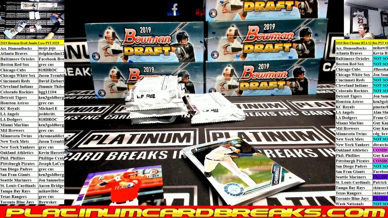 2019 Bowman Draft Baseball Jumbo 8 Box Case 325 - 2019 Bowman Draft Baseball Jumbo 8 Box Case #325