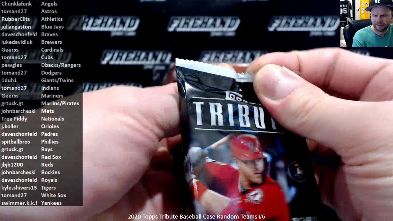 2020 Topps Tribute Baseball Case Random Teams 6 41020 - 2020 Topps Tribute Baseball Case Random Teams #6 ~ 4/10/20