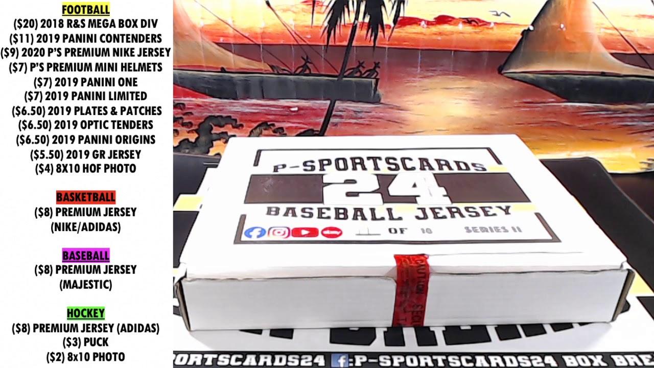 BREAK 5 2020 P SPORTSCARDS24S PREMIUM AUTOGRAPHED BASEBALL JERSEY LIVE BOX BREAK -