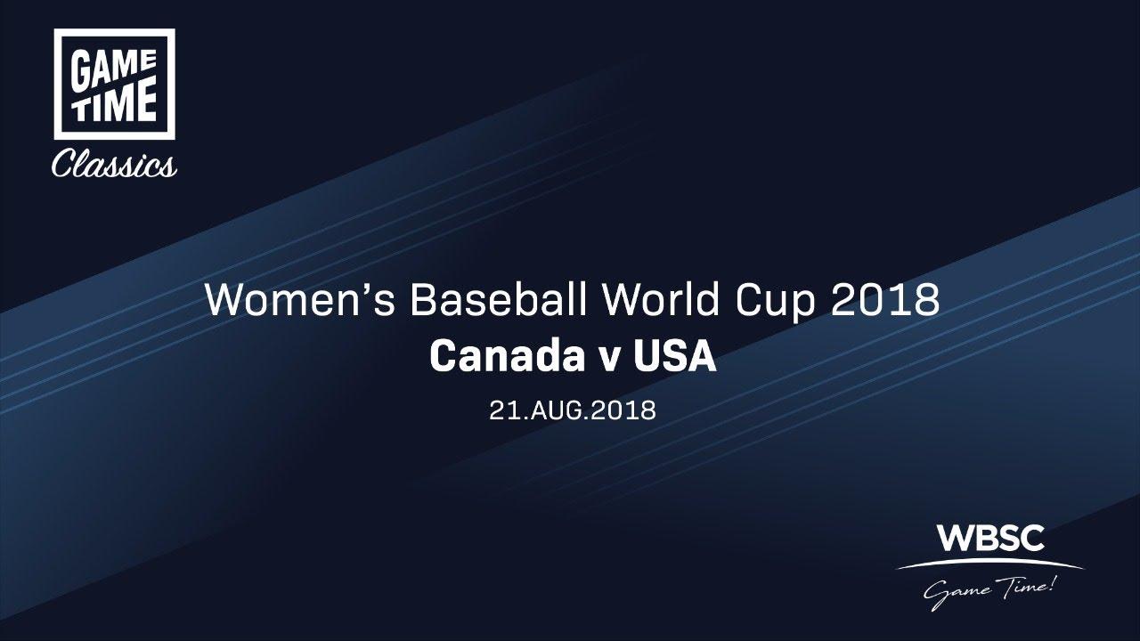 Canada v USA Womens Baseball World Cup 2018 - Canada v USA - Women's Baseball World Cup 2018