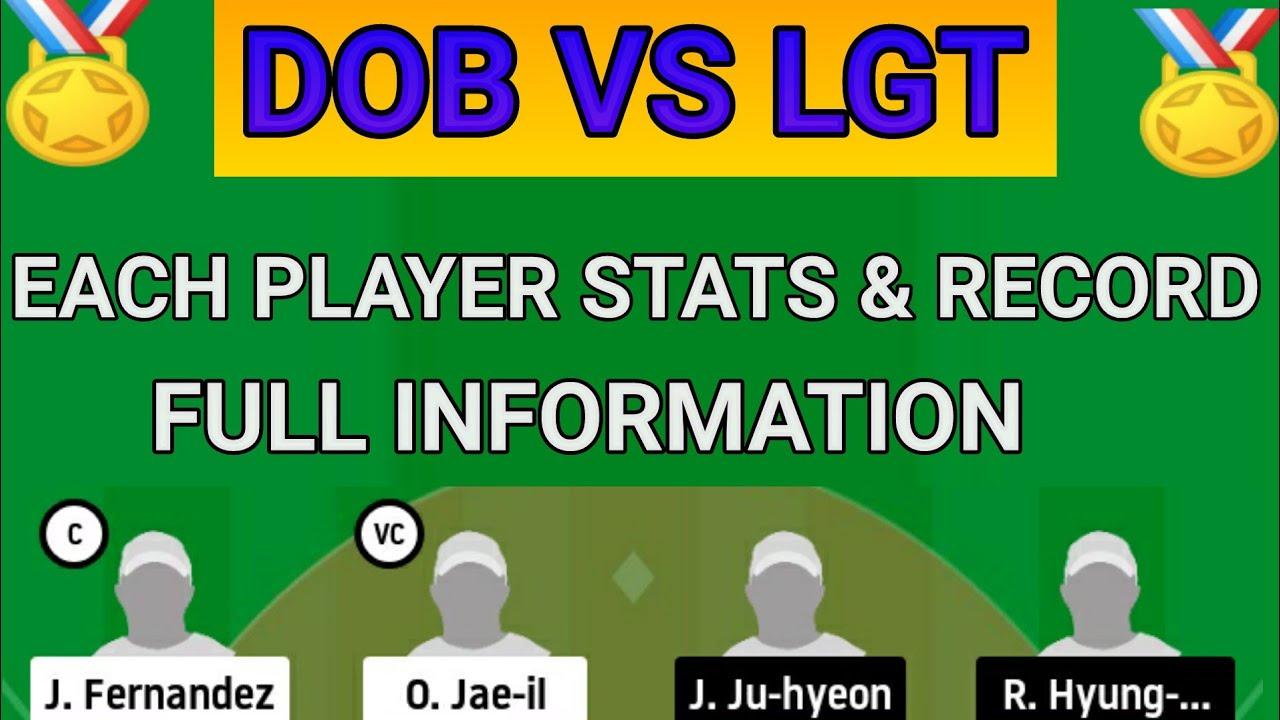 DOB vs LGT Dream11 Team DOB vs LGT Dream11 Korea Baseball Today Match Team - DOB vs LGT Dream11 Team    DOB vs LGT Dream11    Korea Baseball Today Match Team