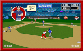 stealin home - a baseball game online