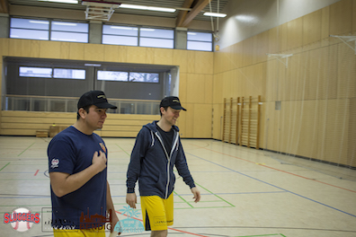 Sluggers Coaches with Baseball School Berlin