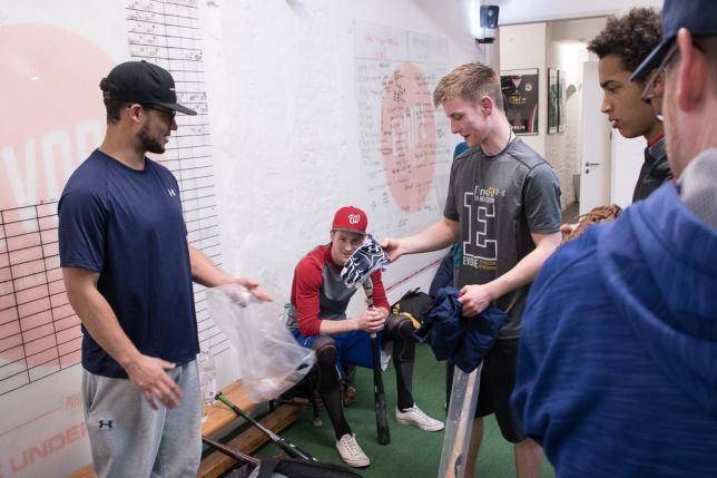 Kyle A. receiving Max Kepler carepackage