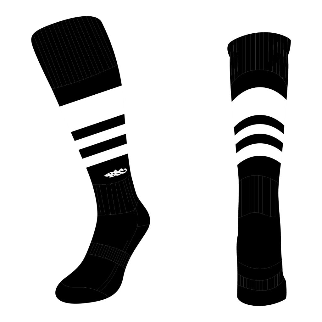 Wildcard Socks - Black & White