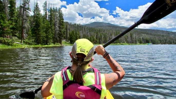 Kayaking Lake Granby to Columbine Bay