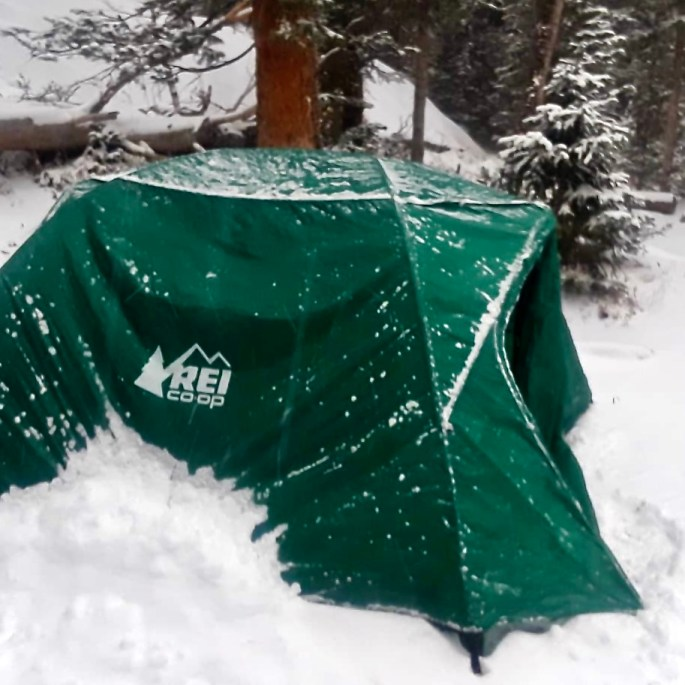 REI Co-op Half Dome 3 Plus Tent Winter Camping