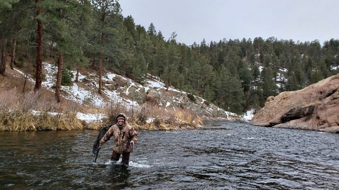 David Carlos fishing the South Platte River near Deckers