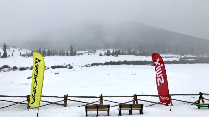 Snow beginning to fly at Snow Mountain Ranch