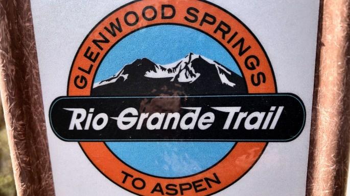 Rio Grande Trail marker in Glenwood Springs