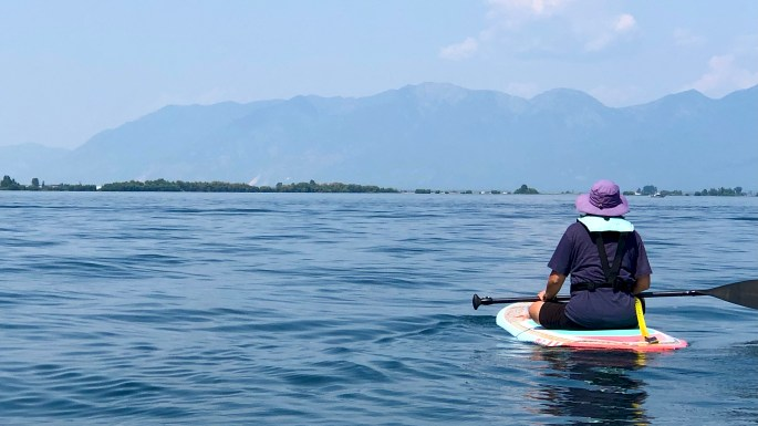 Great Montana Adventure, Paddleboarding Flathead Lake.