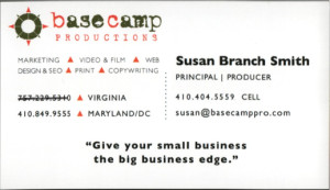 A bad business card