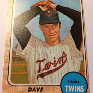 1968 Topps #322 Dave Boswell