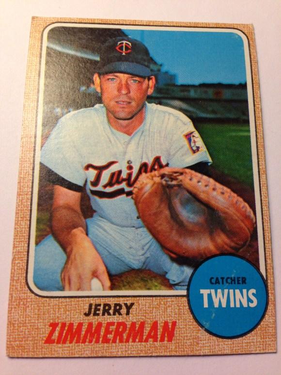 1968 Topps #181 Jerry Zimmerman