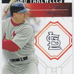 2014 Topps Update Font Farewells Mark McGuire