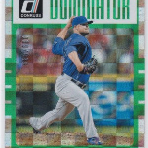 2017 Panini Donruss Dominator Green /630 Jon Lester