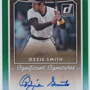 2017 Panini Donruss Significant Signatures Green /5 Ozzie Smith