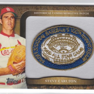2010 Topps Manufactured Commemorative Patch Steve Carlton