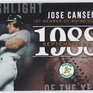 2015 Topps Highlight of the Year Jose Canseco