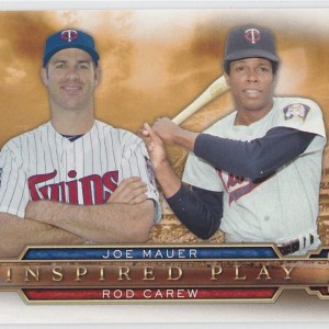 2015 Topps Inspired Play Joe Mauer Rod Carew