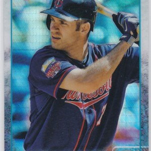 2015 Topps Chrome Prism Refractor Joe Mauer