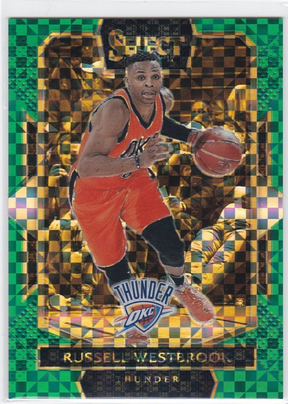 2016-17 Courtside Level Green Prizm /5 Russell Westbrook