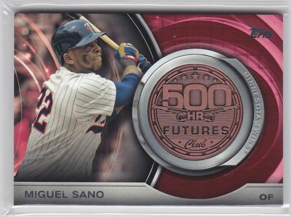 2016 Topps 500 Home Run Futures Medalion Miguel Sano