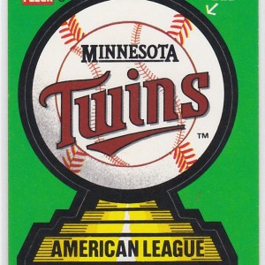 1988 Fleer Team Stickers Minnesota Twins