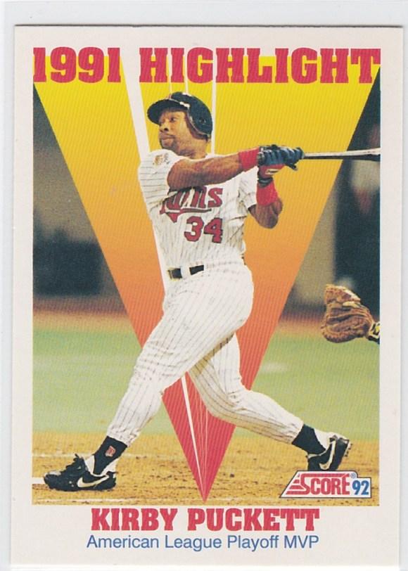 1992 Score 1991 Highlight Kirby Puckett