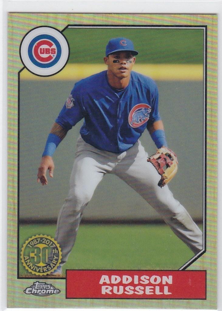 2017 Topps Chrome 1987 Topps Baseball Addison Russell