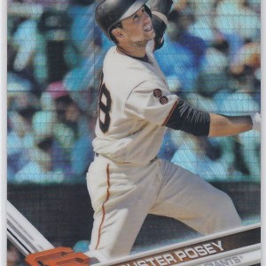 2017 Topps Chrome Prizm Refractor Buster Posey