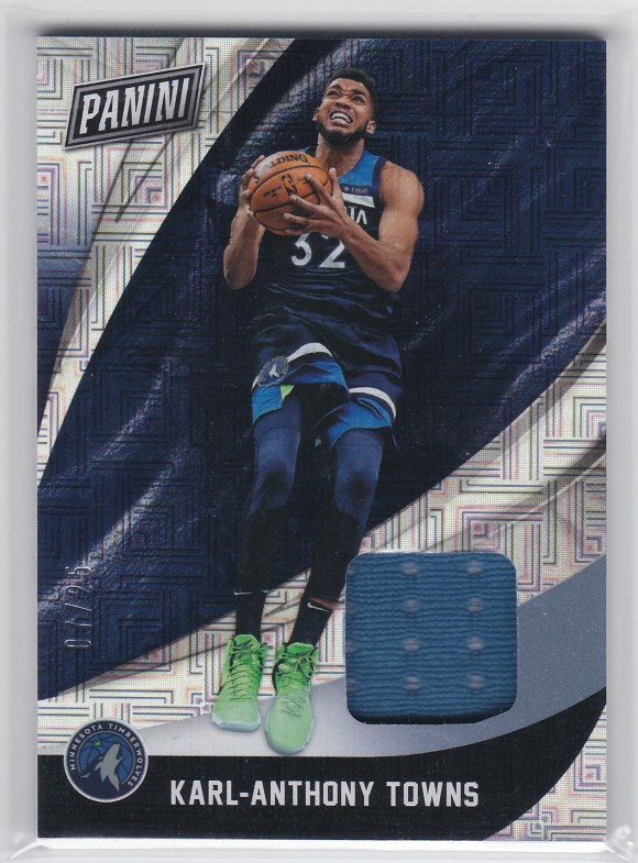 2018 Panini Black Friday Materials Escher Squares #19 Karl-Anthony Towns /25