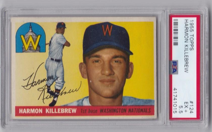 1955 Topps #124 Harmon Killebrew RC