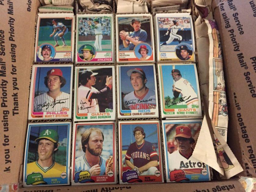Big box of 1981, 1982, and 1983 Topps