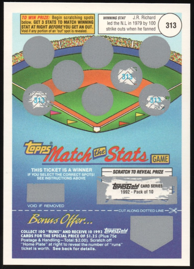 1992 Match The Stats Game Winner