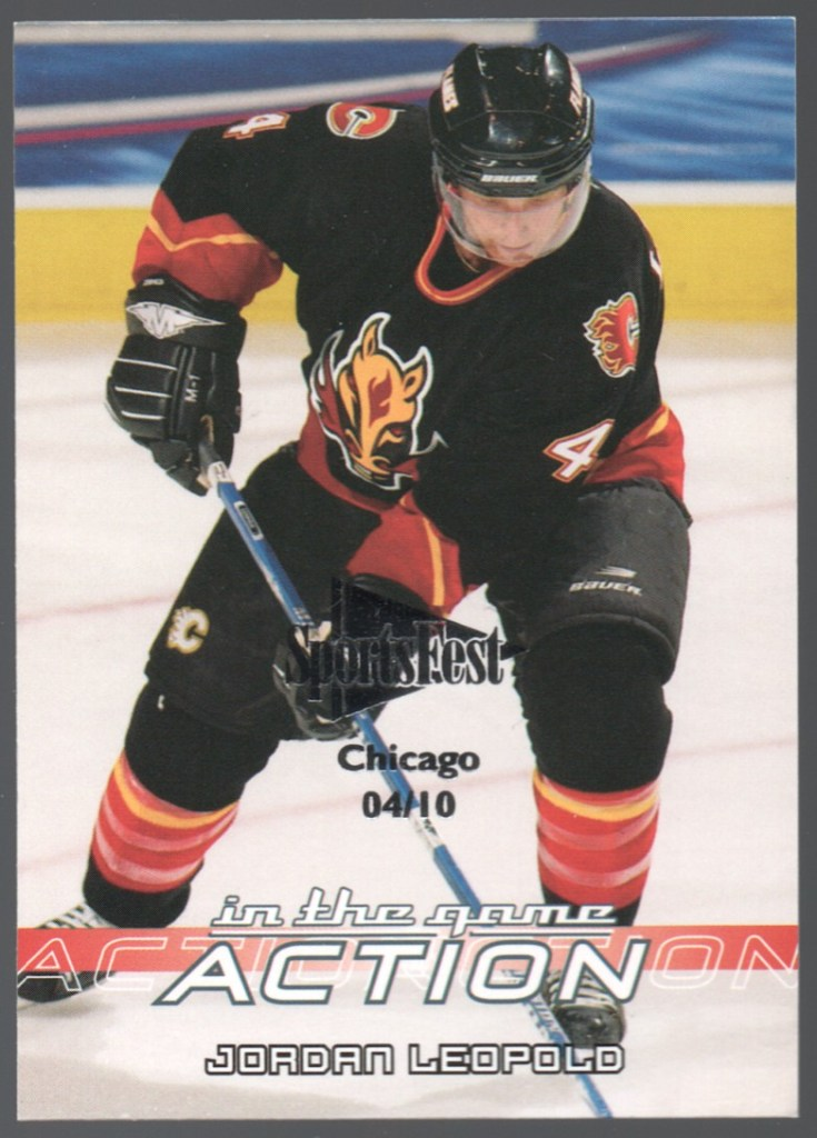 2003-04 In The Game Action SportsFest #48 Jordan Leopold /10