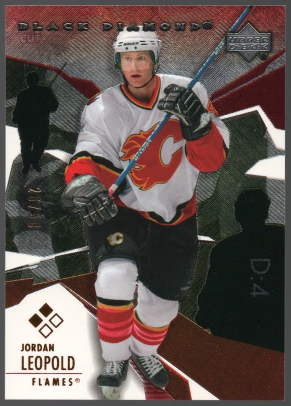 2003-04 Upper Deck Black Diamond Ruby #118 Jordan Leopold /50
