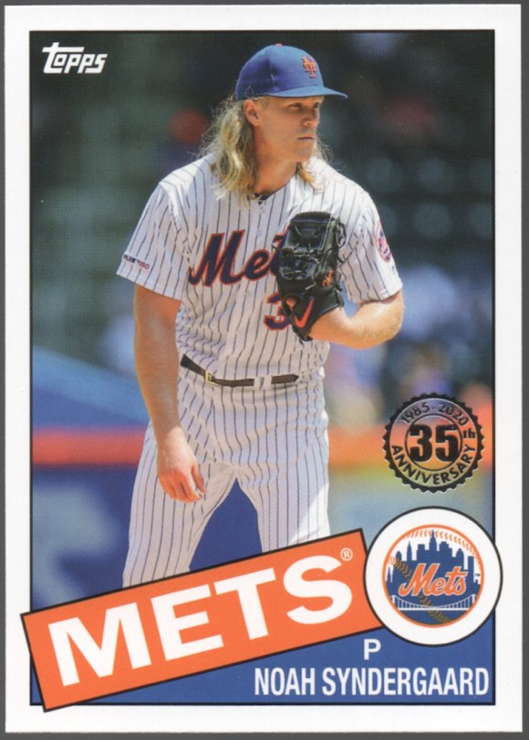 2020 Topps Series 1 1985 Topps 35th Anniversary #85-67 Noah Syndergaard